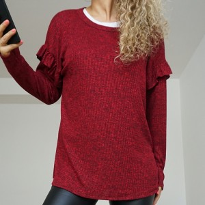 Sweater Curly Bordó